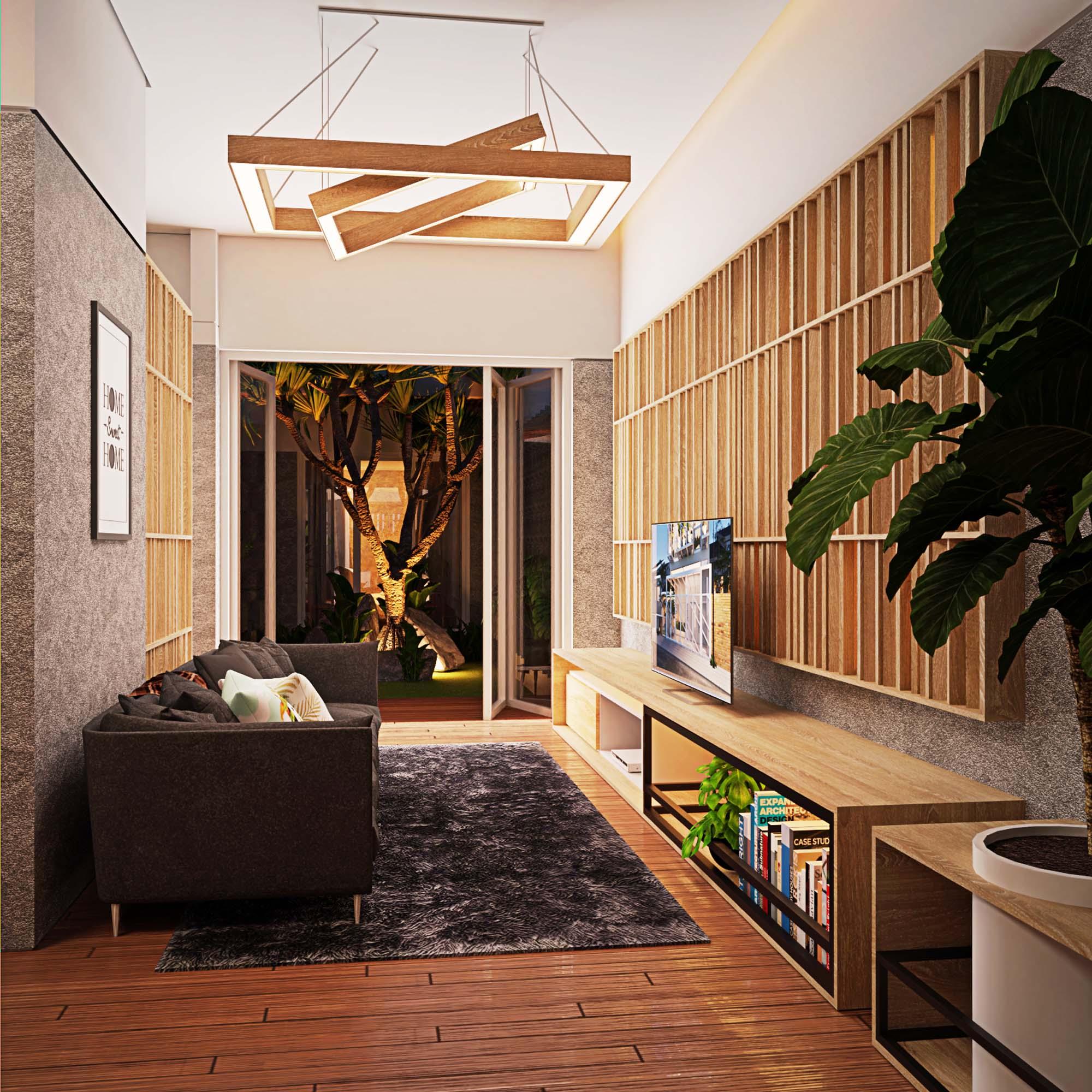 interior rumah panjang - malam